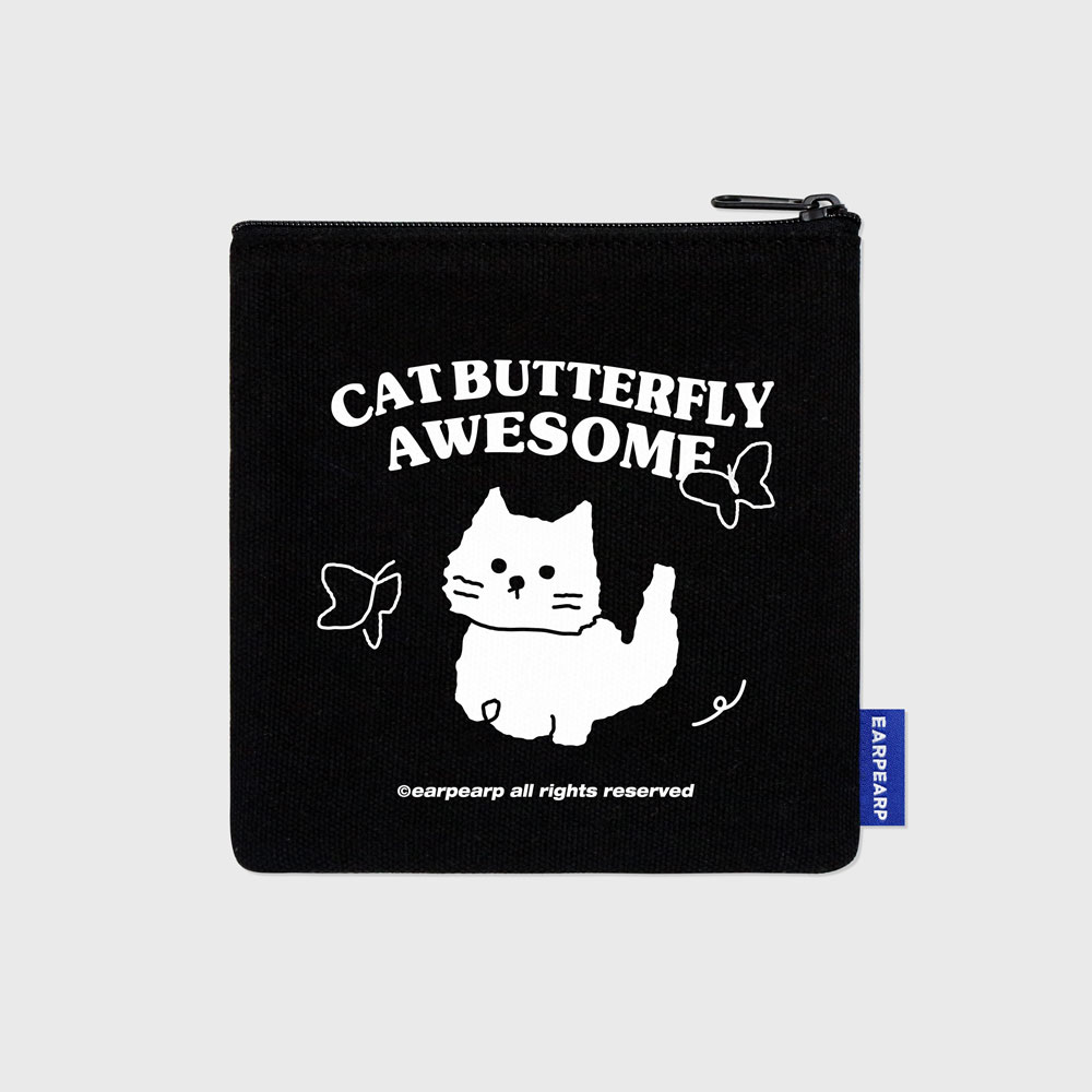 Butterfly awesome cat-black(파우치)