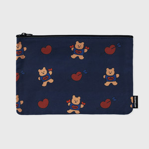 bear heart-navy(파우치)(L)