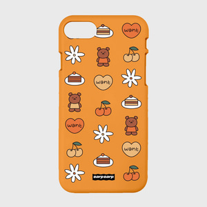 Kids bear-orange(color jelly)