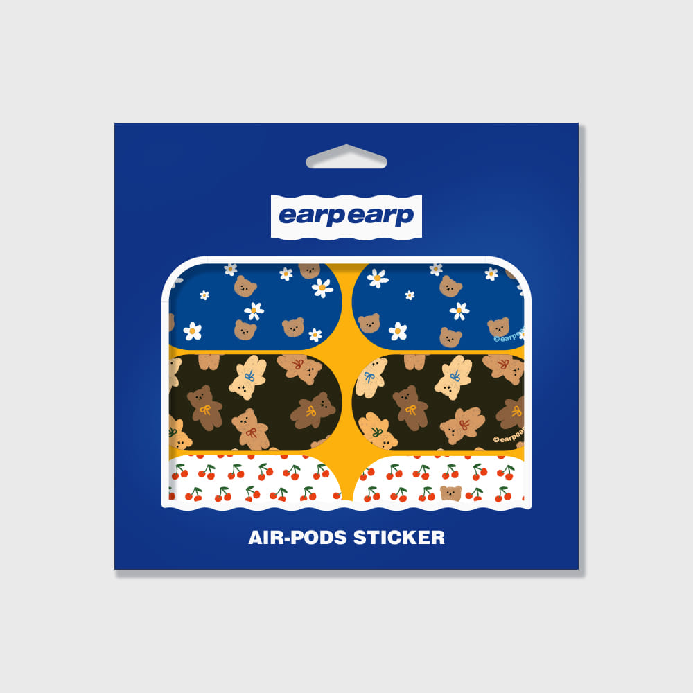 Earpearp air pods sticker pack-yellow