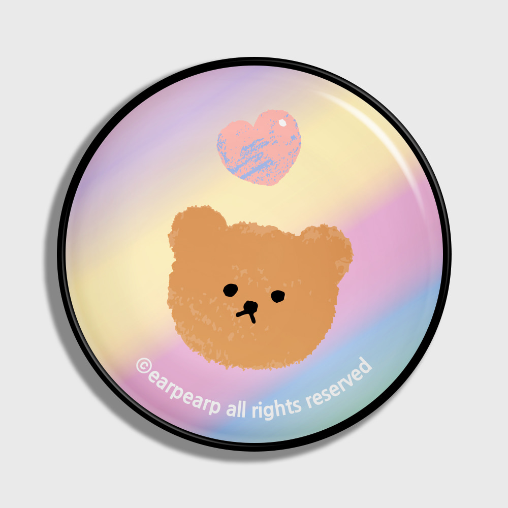 Gradation dot bear-yellow/purple(earptoktok)