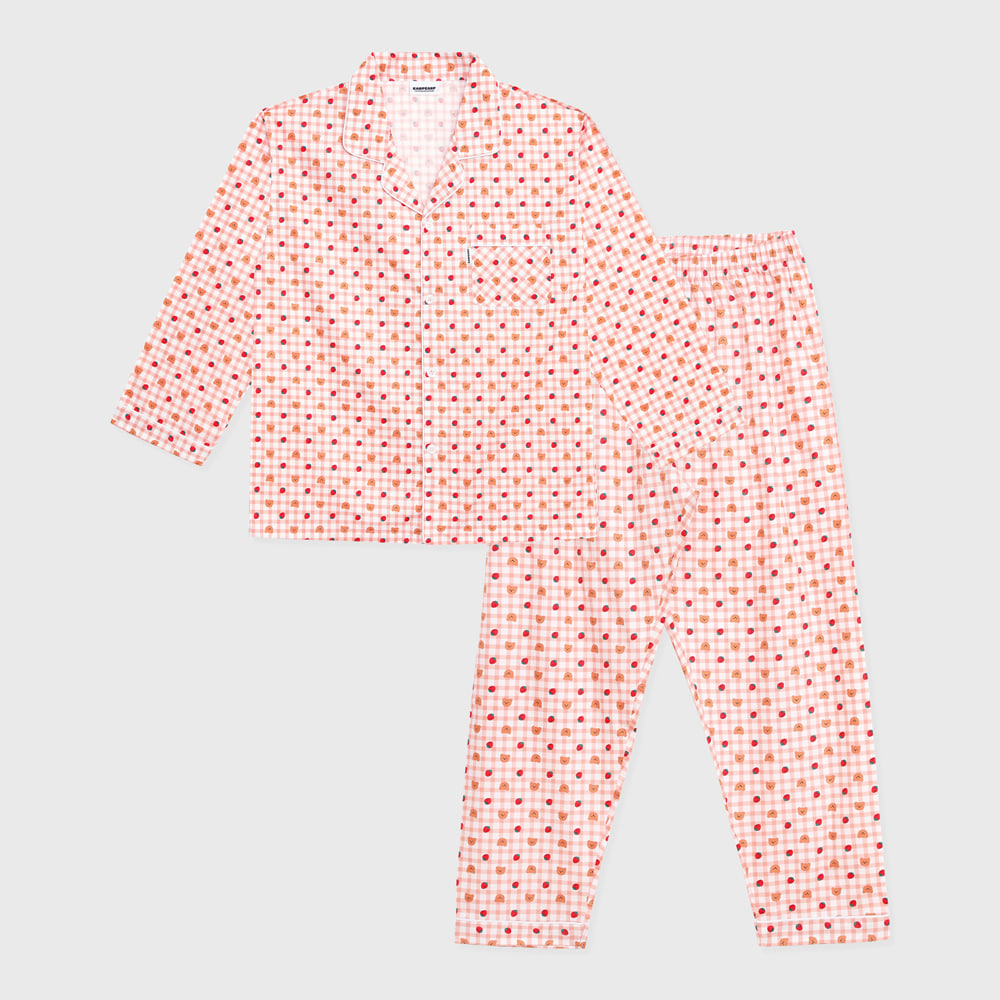 Dot strawberry check-pink(Pajamas)